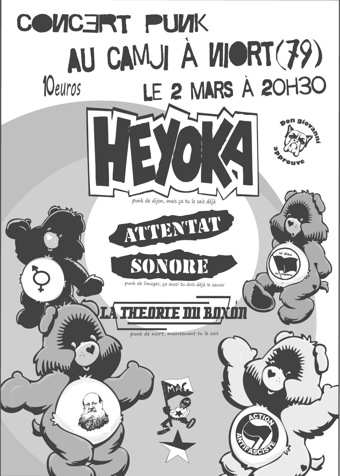 Heyoka + Attentat Sonore + La Théorie du Boxon