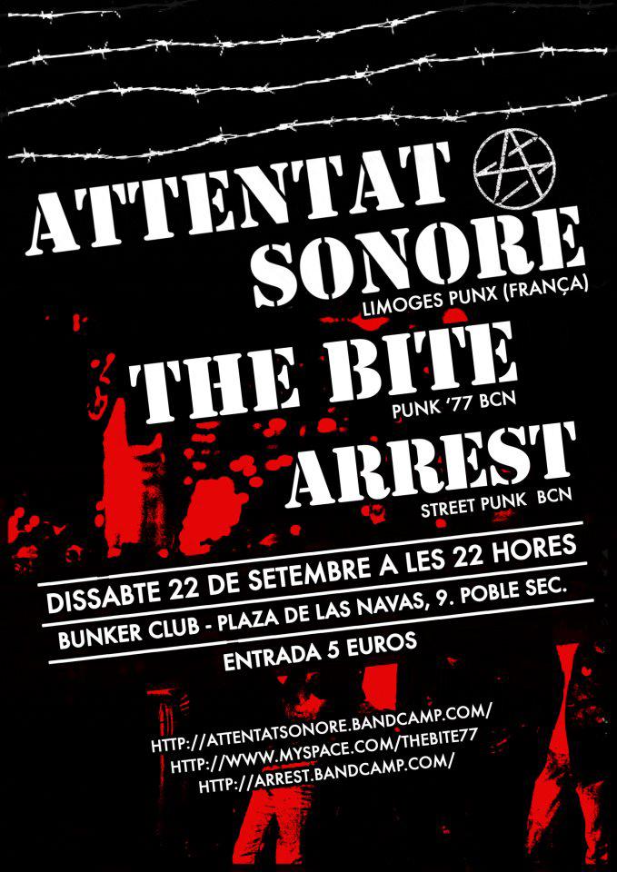 Barcelona, Attentat Sonore, the Bite, Arrest, 22/09/12