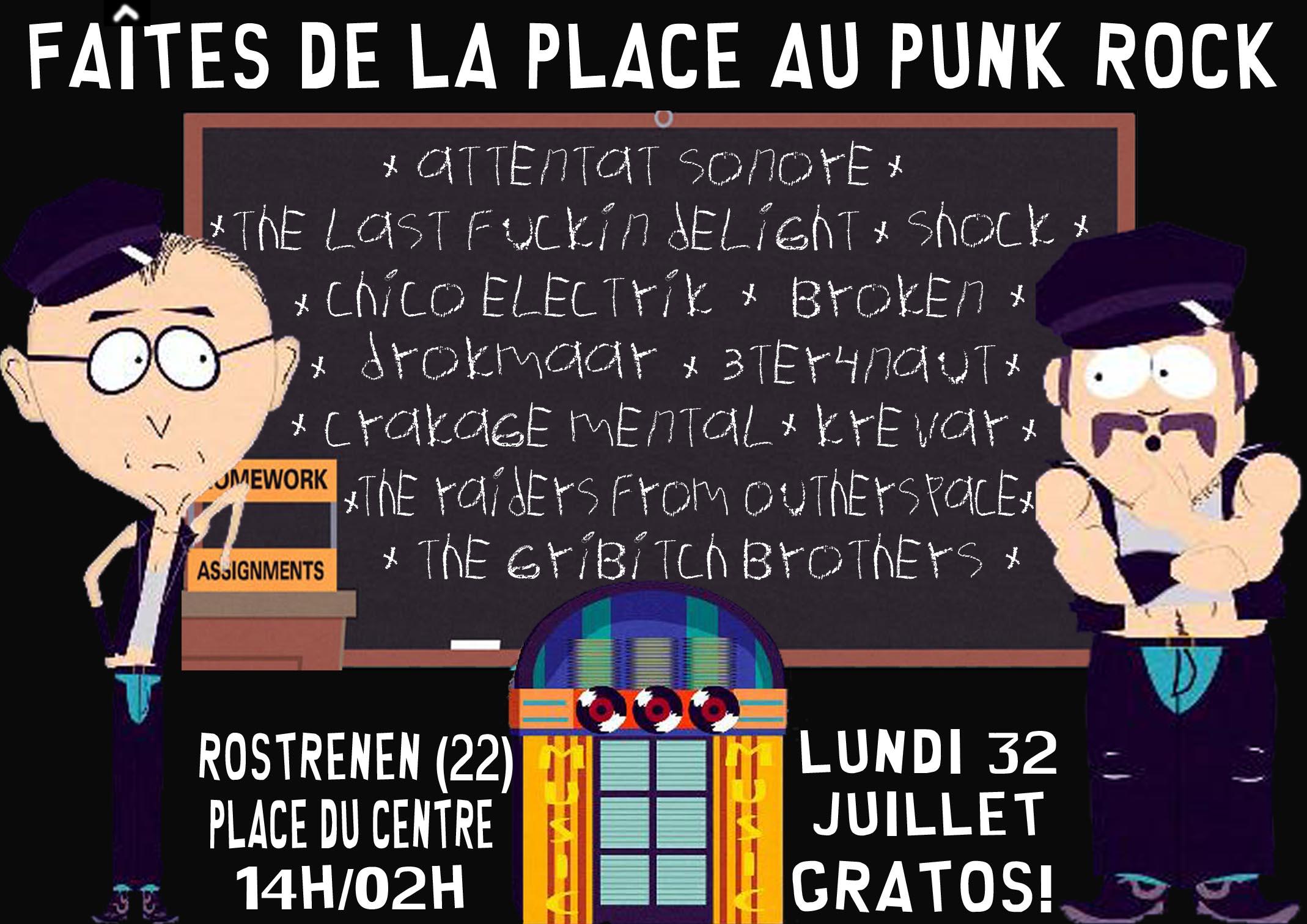Faites de la place au punk rock, Restronen, 1/08/2011