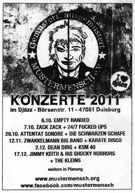 Duisburg, 29/10/11, avec DIE SCHWARZEN SCHAFE