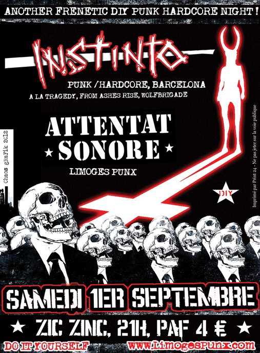 Instinto (Barcelona) +  Attentat Sonore, Limoges, 01.09.12