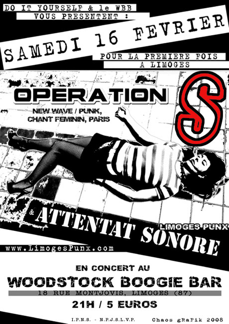 Opération S, Attentat Sonore, Limoges, 16/02/08