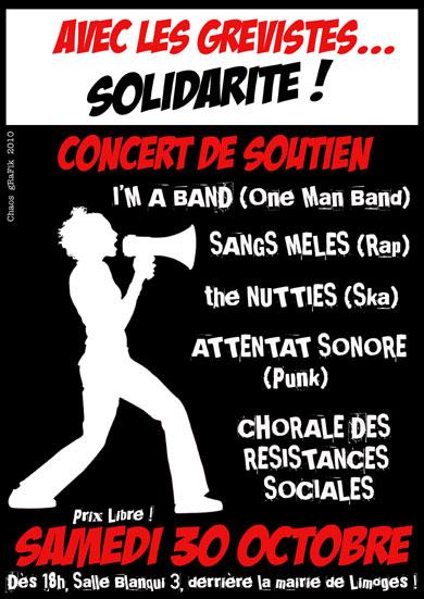 Attentat Sonore, concert de soutien aux grévistes, octobre 2010