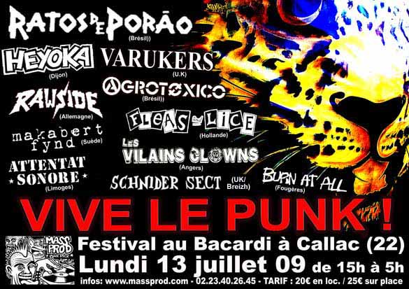 """Vive le Punk"" Callac 13/07/09 Attentat Sonore and many more !"