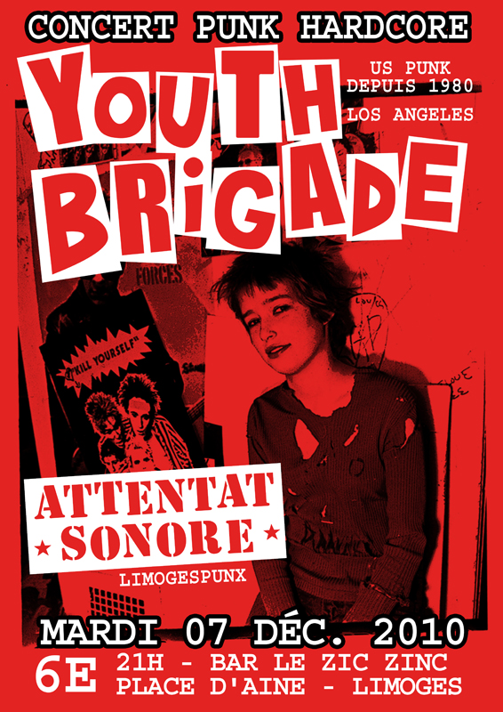 Limoges, 07/12/10, avec Youth Brigade